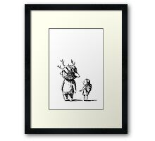 Girl and a monster Framed Print