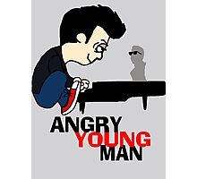 ANGRY YOUNG MAN Photographic Print