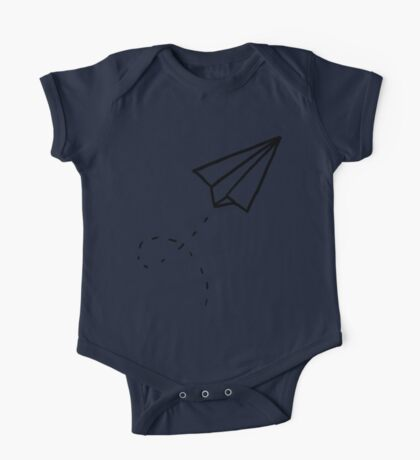 Paper Plane One Piece - Short Sleeve