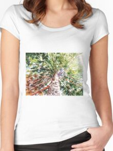 Looking Up Women's Fitted Scoop T-Shirt