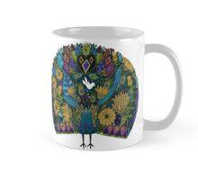 peacock garden white Mug