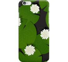 Background with watter lillies pattern iPhone Case/Skin