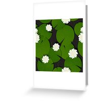 Background with watter lillies pattern Greeting Card