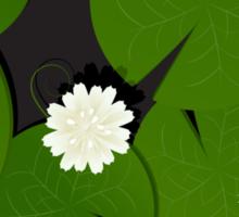 Background with watter lillies pattern Sticker