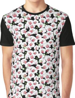 Natural pattern of blooming white orchids Graphic T-Shirt