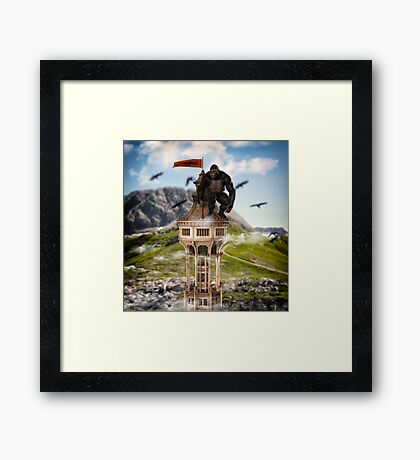 The Kingdom Of The Apes Framed Print