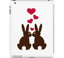 Bunnies hearts love iPad Case/Skin