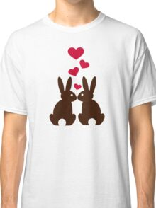 Bunnies hearts love Classic T-Shirt