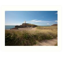 Lighthouse at Llanddwyn Island Art Print