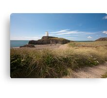 Lighthouse at Llanddwyn Island Canvas Print
