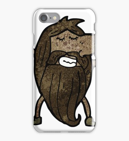 cartoon naked hippie man iPhone Case/Skin