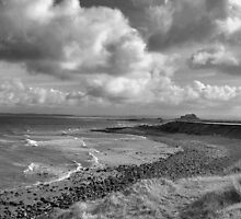 Looking Towards Lindisfarne Castle by Lindamell