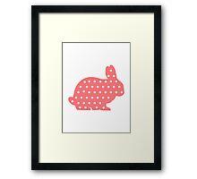 Pink bunny Framed Print