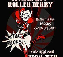 Gotham City Roller Derby by rubynrags