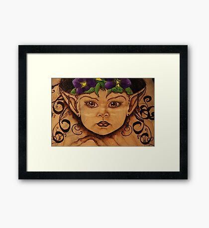 Pyrography: Garden Wood Nymph Framed Print