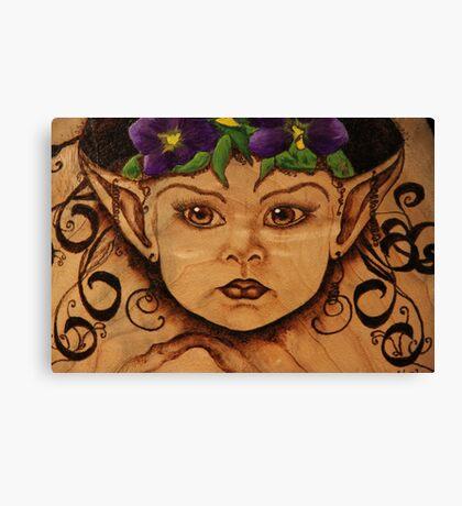 Pyrography: Garden Wood Nymph Canvas Print