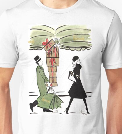 Christmas Shopping at Harrods Unisex T-Shirt
