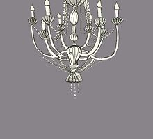 Chandelier by Artist Elisa Piron by ElisaPiron