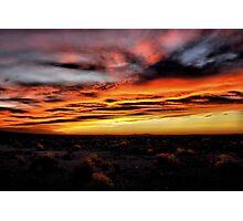 Sunrise At Burns Oregon Photographic Print