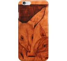 Pyrography: Bilby Mother and Baby iPhone Case/Skin