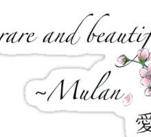 Mulan Quote Sticker