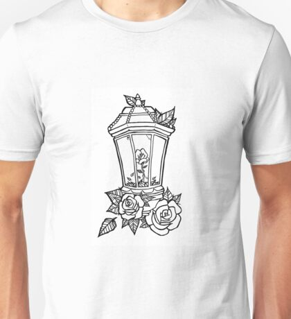 Vintage Lampe mit Rosen. Unisex T-Shirt