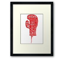 Boxing Glove Typography - the Fight of the Century Framed Print