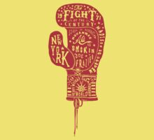 Boxing Glove Typography - the Fight of the Century Kids Tee