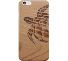 Pyrography: Swimming Turtle iPhone Case/Skin