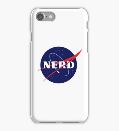 NASA Nerd Logo Parody iPhone Case/Skin