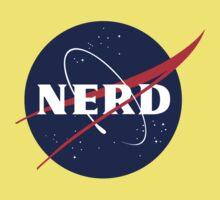 NASA Nerd Logo Parody Baby Tee