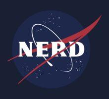 NASA Nerd Logo Parody Kids Tee
