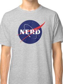 NASA Nerd Logo Parody Classic T-Shirt