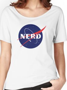 NASA Nerd Logo Parody Women's Relaxed Fit T-Shirt