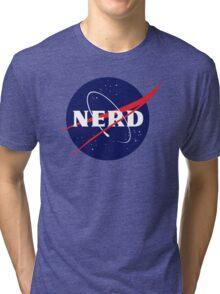 NASA Nerd Logo Parody Tri-blend T-Shirt