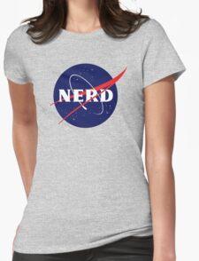 NASA Nerd Logo Parody Womens Fitted T-Shirt