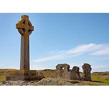 Celtic cross Photographic Print