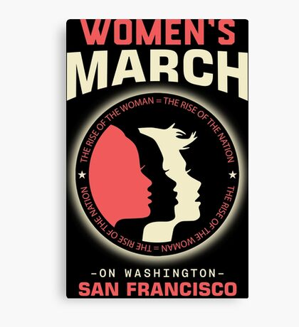 Women's March SAN FRANCISCO Canvas Print