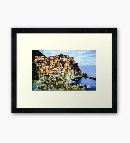 Clifftop View - Part I High Contrast Framed Print