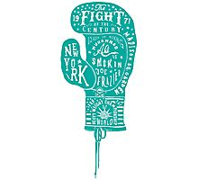 Boxing Glove Typography - the Fight of the Century - green Photographic Print