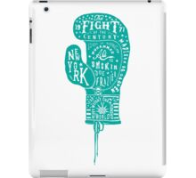 Boxing Glove Typography - the Fight of the Century - green iPad Case/Skin