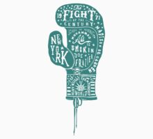 Boxing Glove Typography - the Fight of the Century - green by JamesShannon