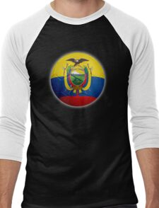 Ecuador - Ecuadorian Flag - Football or Soccer 2 Men's Baseball ¾ T-Shirt