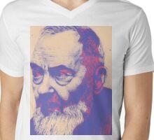 Padre Pio Mens V-Neck T-Shirt