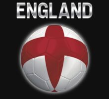 England - English Flag - Football or Soccer Ball & Text 2 Kids Clothes