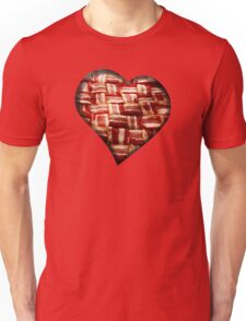 Bacon - Heart - Woven Strips Unisex T-Shirt
