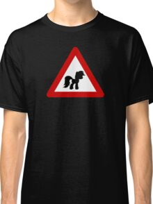 Pony Traffic Sign - Triangular Classic T-Shirt