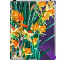 ABSTRACT DAFFODILS IN ORANGE iPad Case/Skin