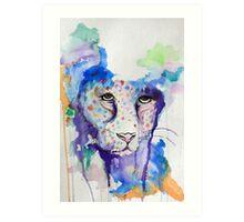 Watercolour Jaguar Art Print