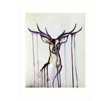 Watercolour Deer Art Print